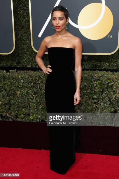 Zoe Kravitz attends The 75th Annual Golden Globe Awards at The Beverly Hilton Hotel on January 7 2018 in Beverly Hills California