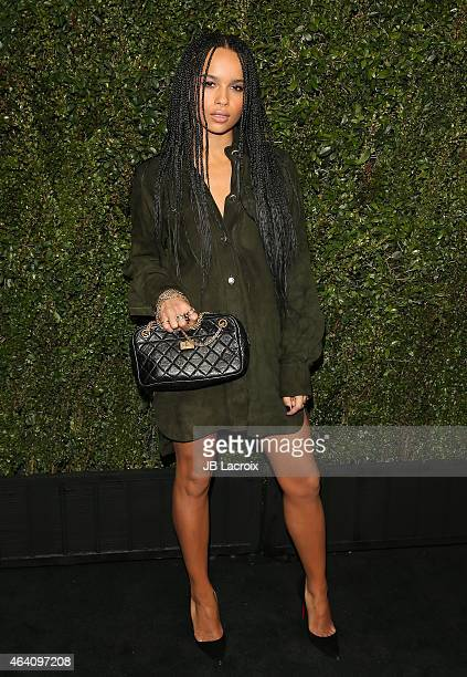 Zoe Kravitz attends the Chanel And Charles Finch PreOscar Dinner at Madeo Restaurant on February 21 2015 in West Hollywood California