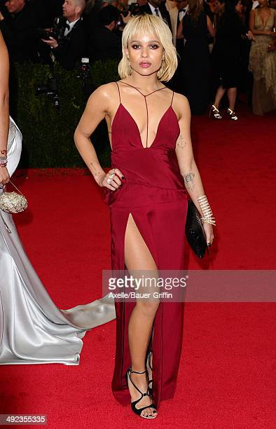 Zoe Kravitz attends the 'Charles James Beyond Fashion' Costume Institute Gala at the Metropolitan Museum of Art on May 5 2014 in New York City