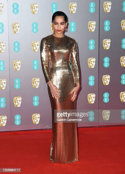 Zoe Kravitz attends the EE British Academy Film Awards 2020 at Royal Albert Hall on February 02 2020 in London England