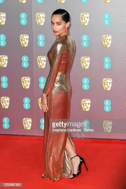 Zoe Kravitz attends the EE British Academy Film Awards 2020 at Royal Albert Hall on February 02, 2020 in London, England.