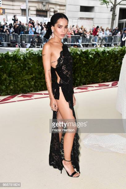 Zoe Kravitz attends the Heavenly Bodies Fashion The Catholic Imagination Costume Institute Gala at The Metropolitan Museum of Art on May 7 2018 in...