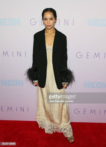 Zoe Kravitz attends the Neon Los Angeles premiere of 'Gemini' on March 15 2018 in Los Angeles California