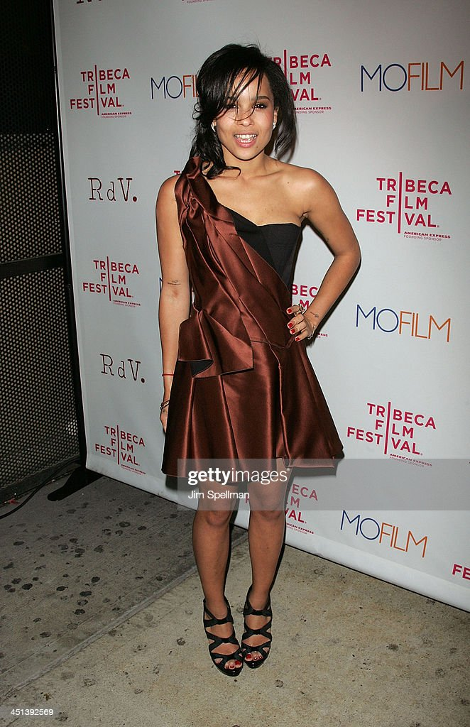Zoe Kravitz attends the premiere of Beware The Gonzo during the 9th annual Tribeca Film Festival at the RdV Lounge on April 22, 2010 in New York City.