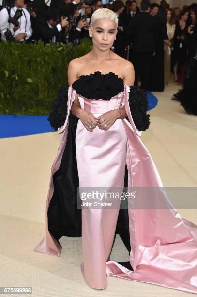 Zoe Kravitz attends the 'Rei Kawakubo/Comme des Garcons Art Of The InBetween' Costume Institute Gala at Metropolitan Museum of Art on May 1 2017 in...