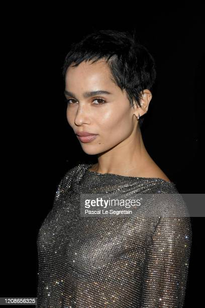 Zoe Kravitz attends the Saint Laurent show as part of the Paris Fashion Week Womenswear Fall/Winter 2020/2021 on February 25 2020 in Paris France