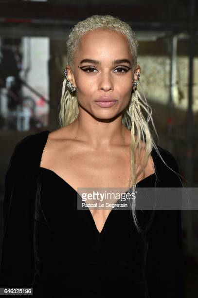 Zoe Kravitz attends the Saint Laurent show as part of the Paris Fashion Week Womenswear Fall/Winter 2017/2018 on February 28 2017 in Paris France