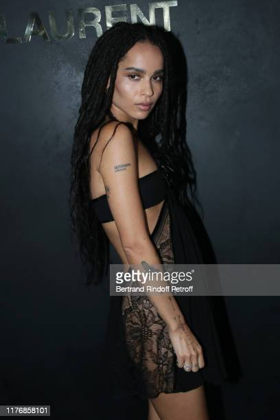 Zoe Kravitz attends the Saint Laurent Womenswear Spring/Summer 2020 show as part of Paris Fashion Week on September 24 2019 in Paris France