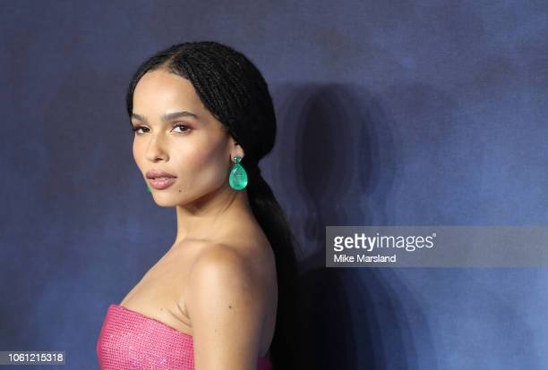 Zoe Kravitz attends the UK Premiere of Fantastic Beasts The Crimes Of Grindelwald at Cineworld Leicester Square on November 13 2018 in London England