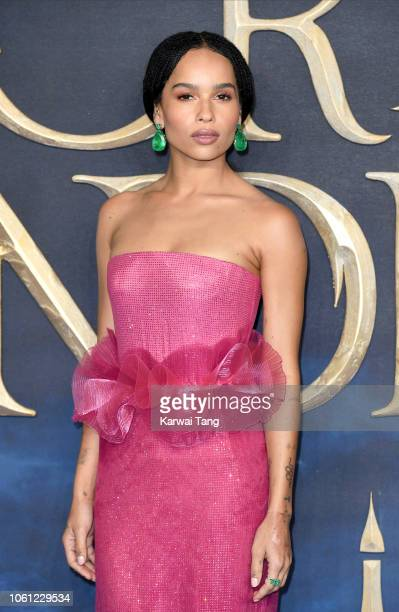 Zoe Kravitz attends the UK Premiere of 'Fantastic Beasts The Crimes Of Grindelwald' at Cineworld Leicester Square on November 13 2018 in London...