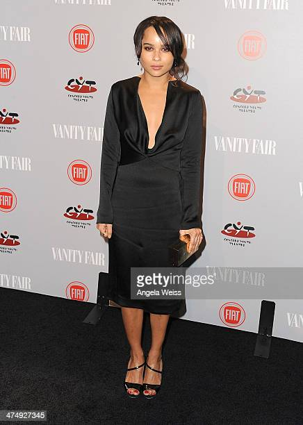 Zoe Kravitz attends the Vanity Fair Campaign Hollywood 'Young Hollywood' party sponsored by Fiat at No Vacancy on February 25 2014 in Los Angeles...