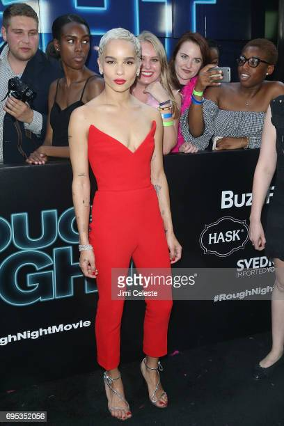 Zoe Kravitz attends the world premiere of 'Rough Night' at AMC Loews Lincoln Square 13 on June 12 2017 in New York City