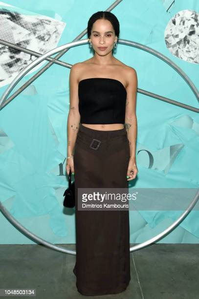 Zoe Kravitz attends Tiffany Co Celebrates 2018 Tiffany Blue Book Collection THE FOUR SEASONS OF TIFFANY at Studio 525 on October 9 2018 in New York...