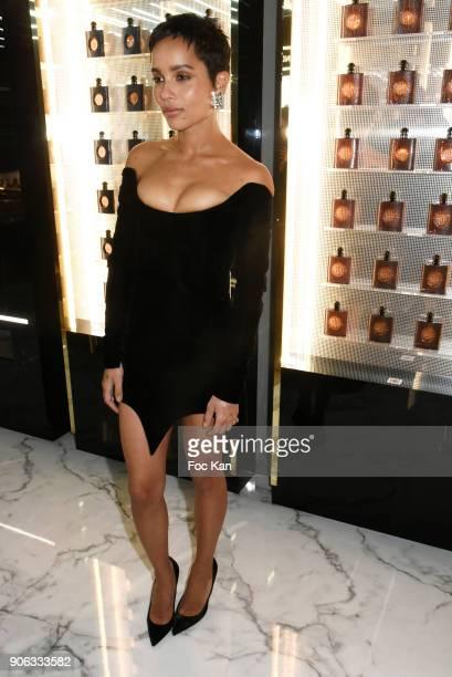 Zoe Kravitz attends YSL Beauty Party During Paris Fashion Week Menswear Fall/Winter 20182019 on January 17 2018 in Paris France