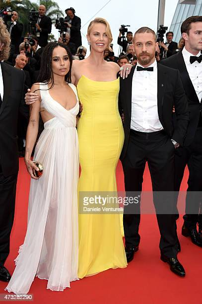 "Zoe Kravitz, Charlize Theron and Tom Hardy attend the ""Mad Max : Fury Road"" Premiere during the 68th annual Cannes Film Festival on May 14, 2015 in..."