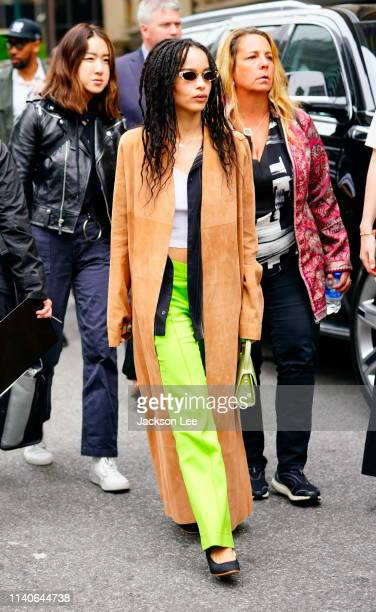 Zoe Kravitz is seen at Hulu Upfronts on May 1 2019 in New York City