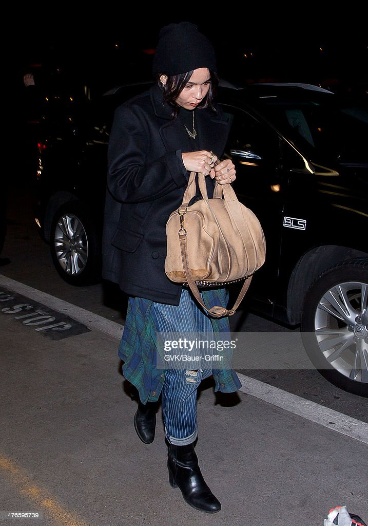 Zoe Kravitz is seen at LAX airport on March 03, 2014 in Los Angeles, California.
