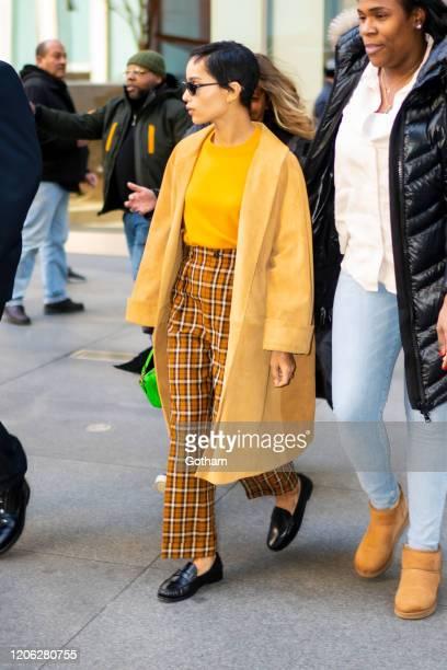Zoe Kravitz is seen in Midtown on February 14, 2020 in New York City.