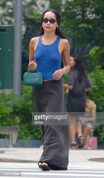 Zoe Kravitz is seen on July 26, 2021 in New York City, New York.