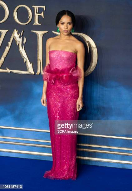 Zoe Kravitz seen attending the UK Premiere of the'Fantastic Beasts The Crimes Of Grindelwald' at the Cineworld Leicester Square in London