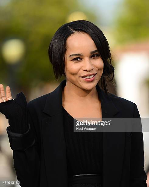 """Zoe Kravitz visits """"Extra"""" at Universal Studios Hollywood on February 25, 2014 in Universal City, California."""