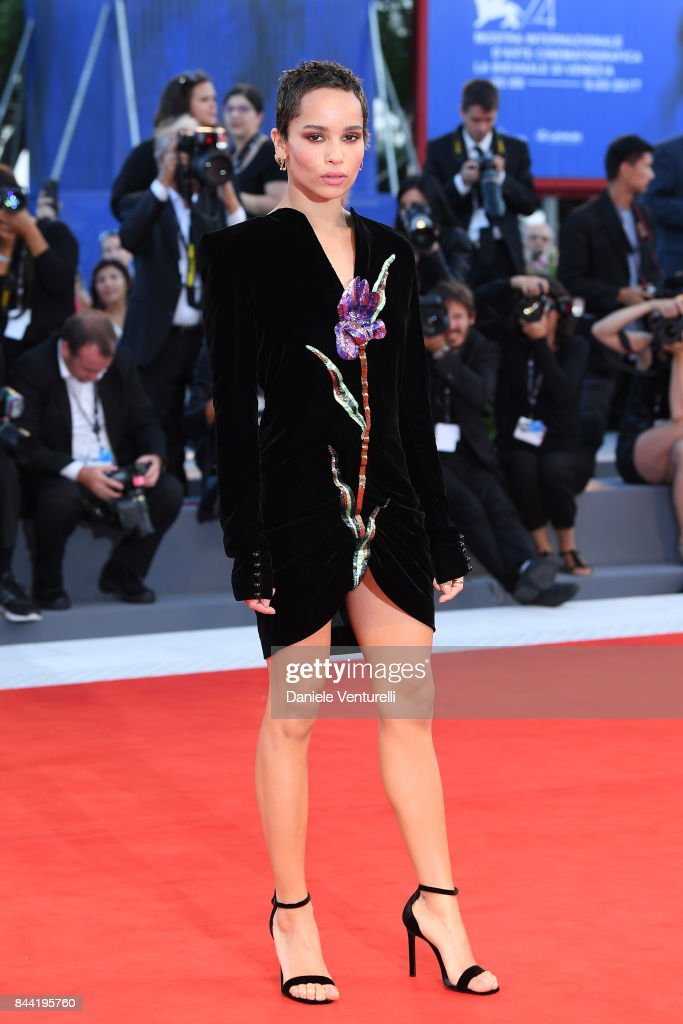 Zoe Kravitz walks the red carpet ahead of the 'Racer And The Jailbird (Le Fidele)' screening during the 74th Venice Film Festival at Sala Grande on September 8, 2017 in Venice, Italy.