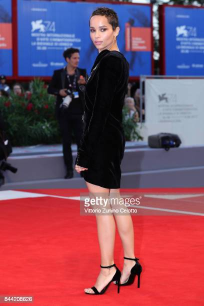 Zoe Kravitz walks the red carpet ahead of the 'Racer And The Jailbird ' screening during the 74th Venice Film Festival at Sala Grande on September 8...