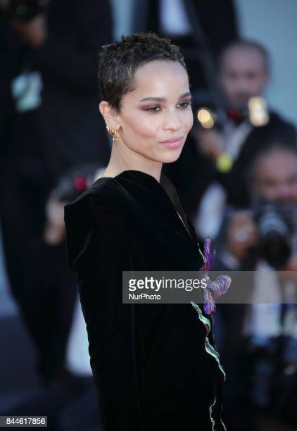 Zoe Kravitz walks the red carpet ahead of the 'Racer And The Jailbird ' screening during the 74th Venice Film Festival on September 8, 2017 at Venice...