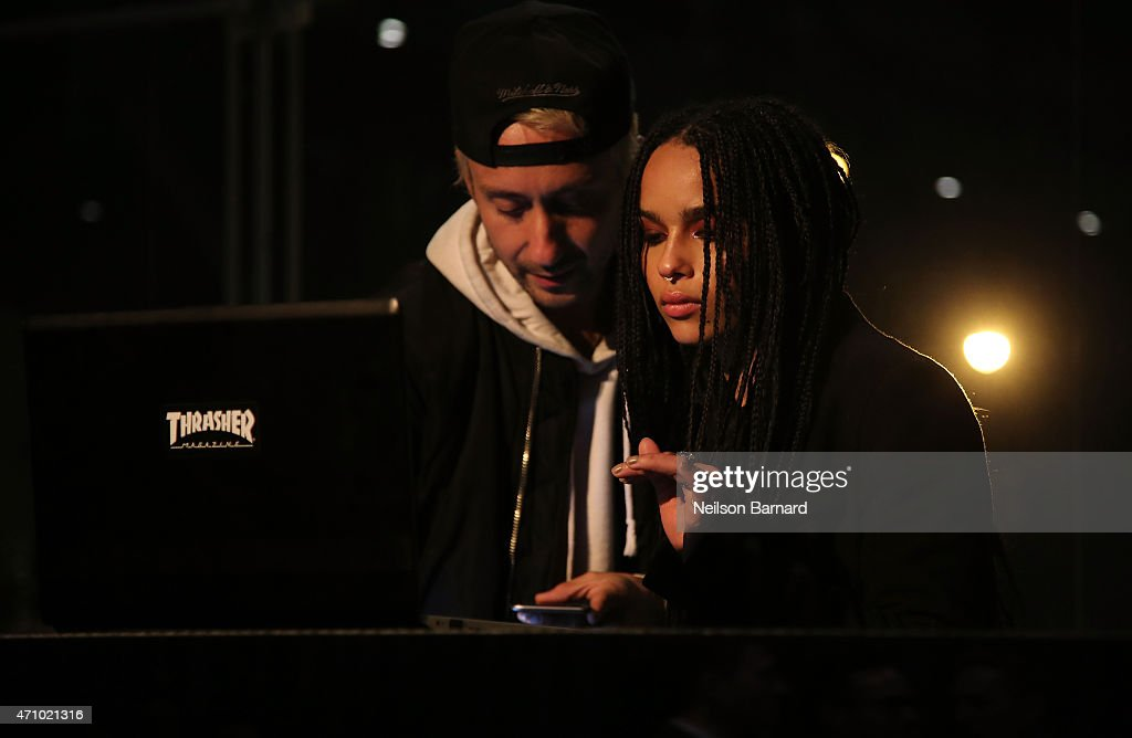 Zoe Kravitz (R), wearing Max Mara, performs at the Max Mara celebration of the opening of The Whitney Museum Of American Art at its new location on April 24, 2015 in New York City.
