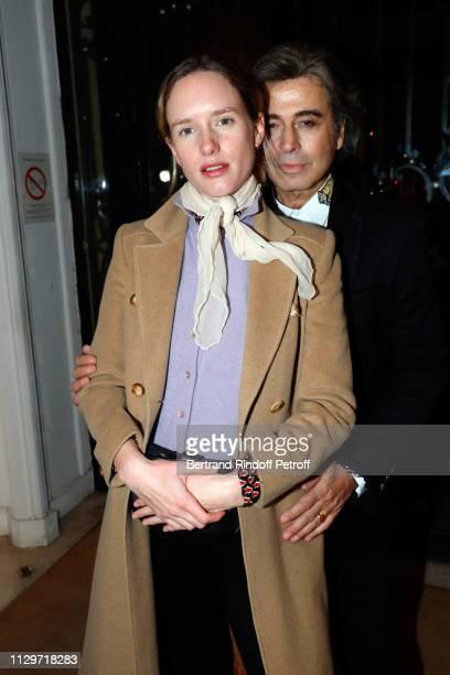 Zoe Le Ber and Alexandre Zouari attend 'Le Monde de Marie Beltrami' exhibition at Artcurial on February 14 2019 in Paris France