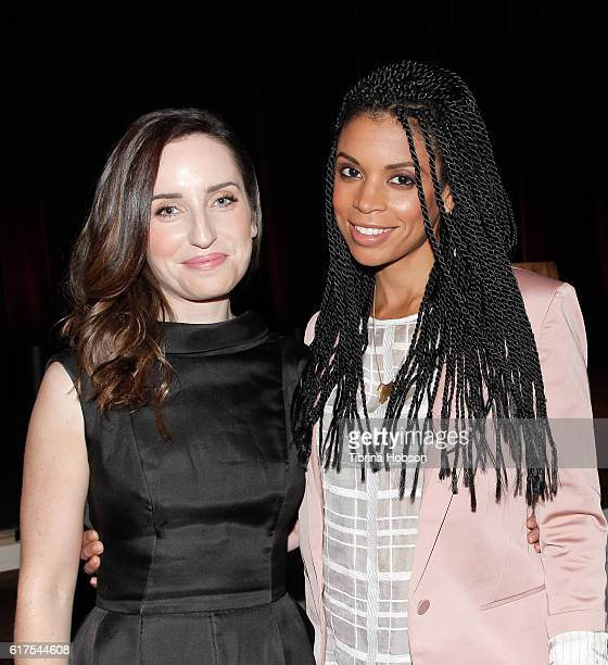 Zoe Lister Jones and Susan Kelechi Watson attend the International Women's Media Foundation 27th annual Courage In Journalism Awards at the Beverly...