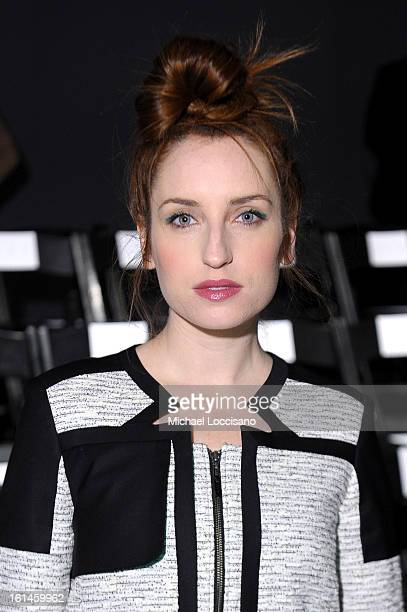 Zoe Lister Jones attends the ICB By Prabal Gurung Fall 2013 fashion show during MercedesBenz Fashion Week at The Studio at Lincoln Center on February...