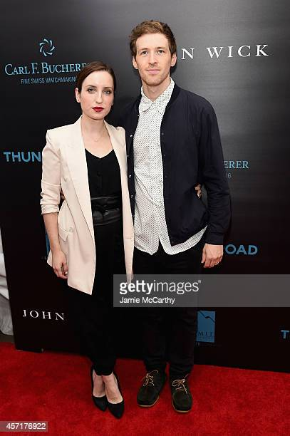 Zoe ListerJones and Daryl Wein attend the John Wick New York Premiere at Regal Union Square Theatre Stadium 14 on October 13 2014 in New York City