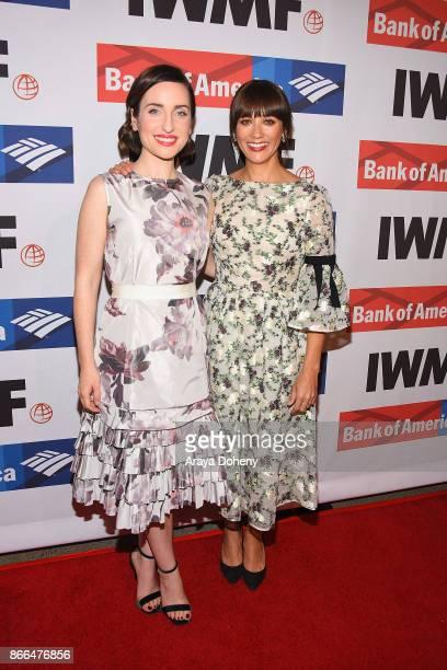 Zoe ListerJones and Rashida Jones attend the International Women's Media Foundation 2017 Courage in Journalism Awards at NeueHouse Hollywood on...
