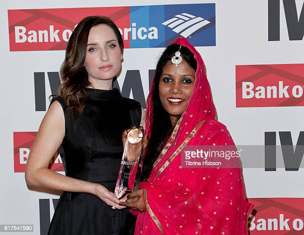 Zoe ListerJones and Stella Paul attend the International Women's Media Foundation 27th annual Courage In Journalism Awards at the Beverly Wilshire...