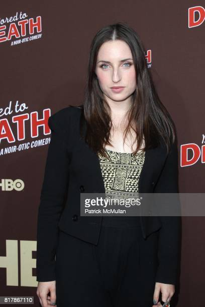Zoe ListerJones attends HBO Presents the Season Premiere of BORED TO DEATH at NYU Skirball Center on September 21 2010 in New York City