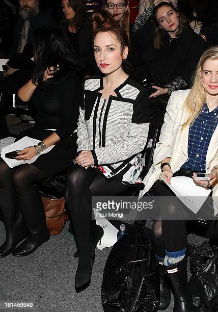Zoe Lister-Jones attends ICB By Prabal Gurung during Fall 2013 Mercedes-Benz Fashion Week at The Studio at Lincoln Center on February 11, 2013 in New...