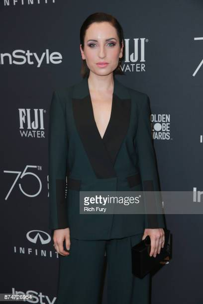 Zoe ListerJones attends the Hollywood Foreign Press Association and InStyle celebrate the 75th Anniversary of The Golden Globe Awards at Catch LA on...