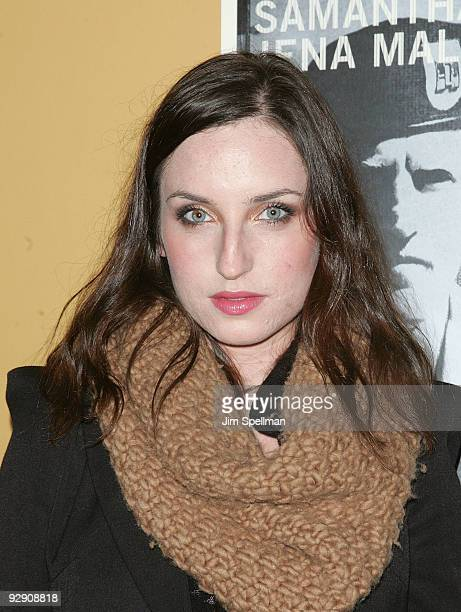 Zoe ListerJones attends The Messenger Premiere at Clearview Chelsea Cinemas on November 8 2009 in New York City