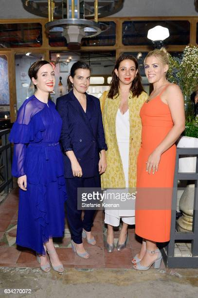 Zoe ListerJones Rachel Comey Maya Rudolph and Busy Philipps attend Rachel Comey Fall Winter 2017 Collection Presentation on February 7 2017 in Los...