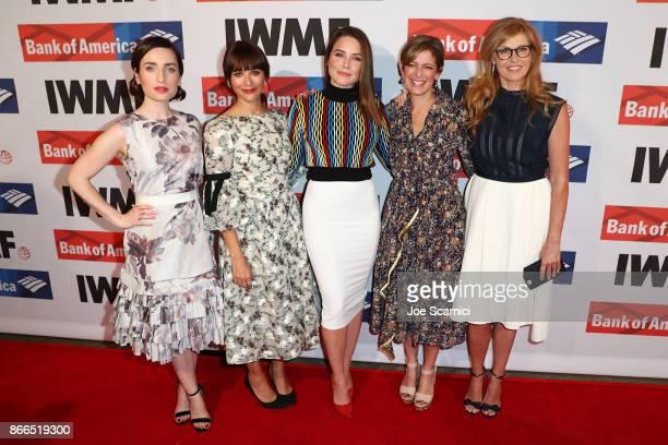 Zoe ListerJones Rashida Jones Sophia Bush Cindi Leive and Connie Britton attend the International Women's Media Foundation 2017 Courage In Journalism...