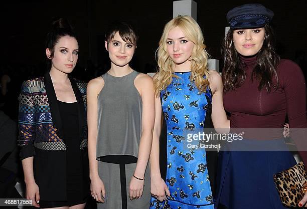 Zoe Lister-Jones, Sami Gayle, Peyton List and Atlanta de Cadenet attend the ICB By Prabal Gurung Show during Mercedes-Benz Fashion Week Fall 2014 at...