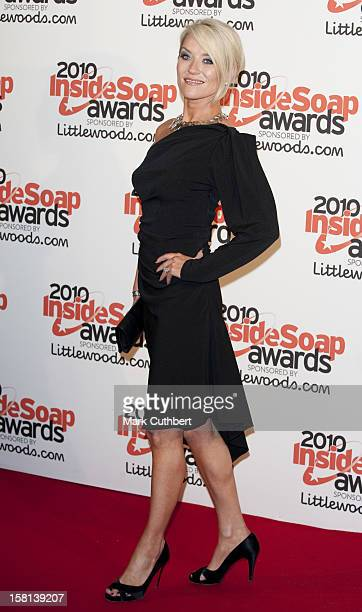 Zoe Lucker Arrives At The 2010 Inside Soap Awards Held At Shaka Zulu In Camden London