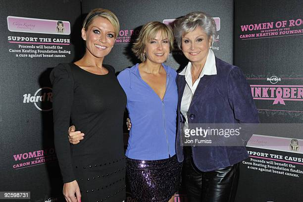 Zoe Lucker Penny Smith and Angela Rippon attend the PINKTOBER Women Of Rock Charity Concert at the Royal Albert Hall on November 1 2009 in London...