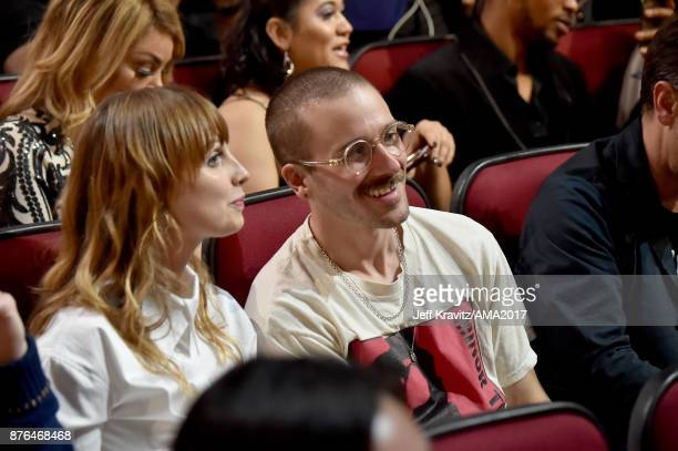 Zoe Manville and John Gourley of music group Portugal The Man at the 2017 American Music Awards at Microsoft Theater on November 19 2017 in Los...