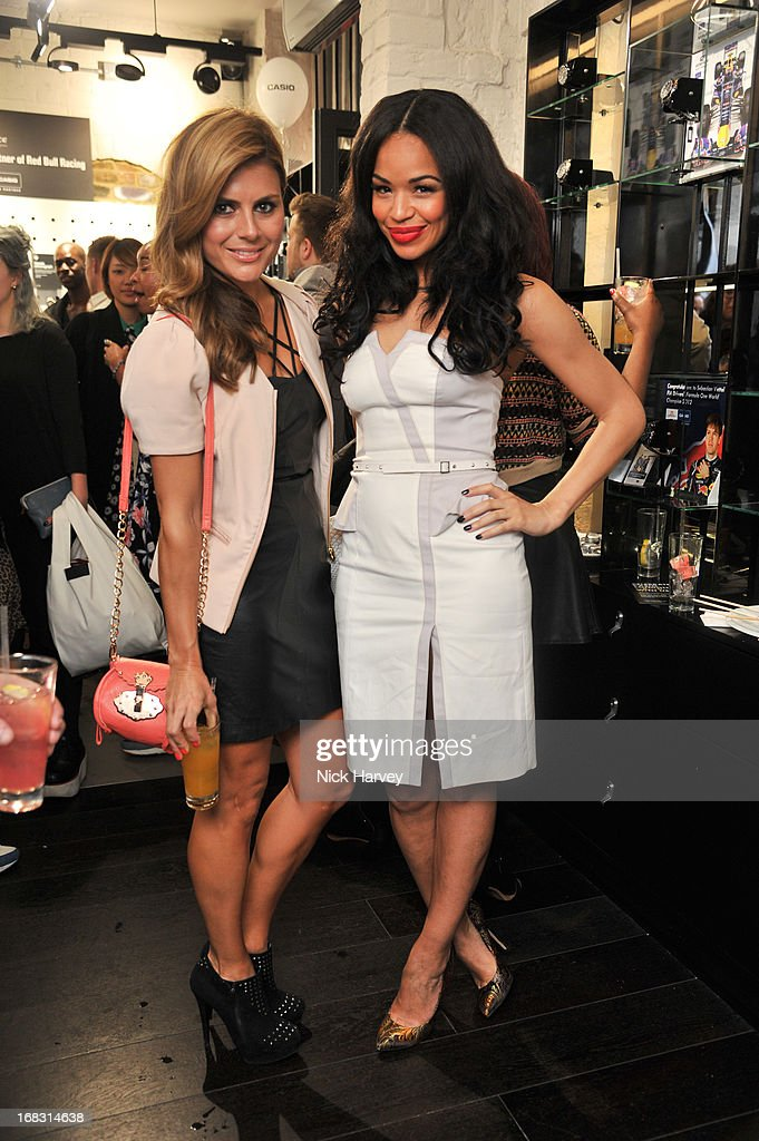 Zoe Mardman and Sarah-Jane Crawford attend the Casio London Store 1st birthday party on May 8, 2013 in London, England.