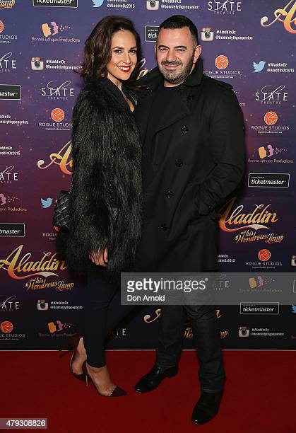 Zoe Marshall and Steven Khalil arrive at Aladdin And His Wondrous Lamp opening night at the State Theatre on July 3 2015 in Sydney Australia