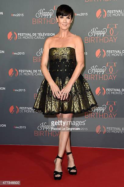 Zoe McLellan attends the 55th Monte Carlo Beach anniversary as part of Monte Carlo TV Festival on June 16 2015 in MonteCarlo Monaco