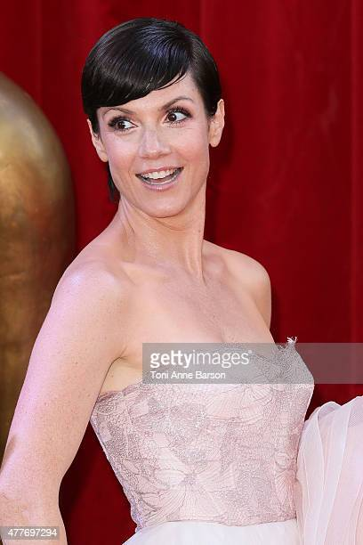 Zoe McLellan attends the 55th Monte Carlo TV Festival Closing Ceremony and Golden Nymph Awards at the Grimaldi Forum on June 18 2015 in MonteCarlo...