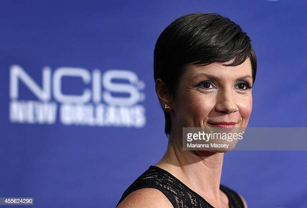 Zoe McLellan attends the screening of NCIS New Orleans at the National WWII Museum on September 17 2014 in New Orleans Louisiana